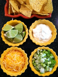 White Bean Chili Toppings